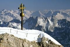 Zugspitze,Altes Gipfelkreuz, 2962 m, Wettersteingebirge, Werdenfels, Oberbayern, Deutschland